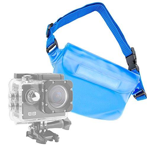 DURAGADGET Marsupio/Borsa Impermeabile per Action Camera SmilyDirect | Sodao WiFi | Theoutlettablet | TopElek | Uvistar | Zenoplige 4K | ieGeek - Blu