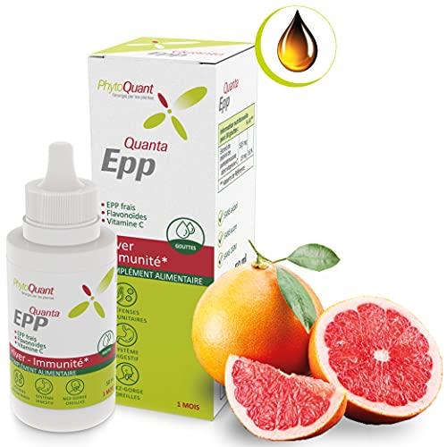 Extrait de Pépin de Pamplemousse | Immunité |ORL | Adultes & Enfants |Flacon de 50 ml| 1 mois| Produit à partir de pépins frais| Flavonoïdes & Vitamine C | Complément alimentaire | PhytoQuant