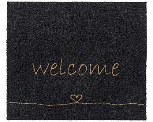 Bavaria Home Style Collection - Zerbino con scritta 'Welcome - Heart - Cuore
