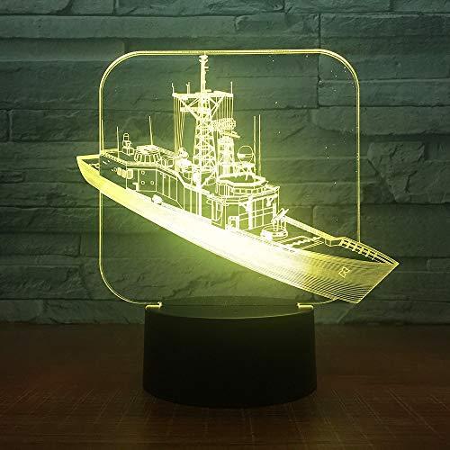 Distruggi la lampada da tavolo per barche, la luce notturna, la lampadina in acrilico, il tavolo da illusione ottica, la luce notturna per bambini