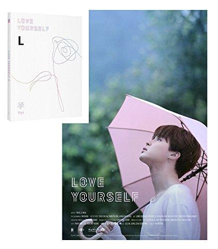 BANGTAN BOYS KPOP LOVE YOURSELF Her [L Ver.] BTS 5th Mini Album CD + Photo Book + Mini Book +Photo Card + Sticker Pack