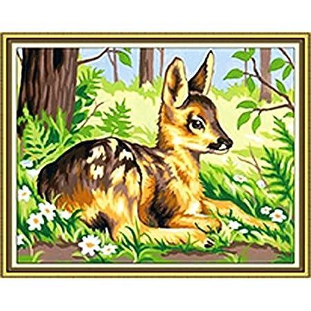 GMMH Diamond Painting Set Image 14x 18Diamant Peinture Broderie à la Main Bricolage mosaïque Printemps Cerf
