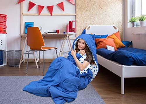 Chic Home - Schlafsäcke in blau, Größe Twin X-Long