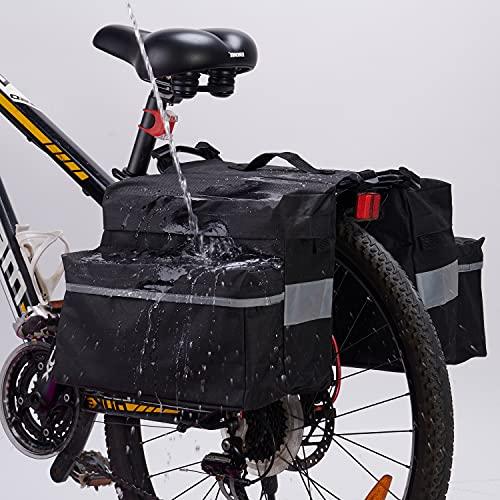 Alforjas Bicicleta,20L Bolsa Trasera para Bicicleta,Impermeable Bicicleta Asiento Trasero Tronco Bolsa,con Cinta Reflectante,para Ciclismo,Viajes,Diario,Camping
