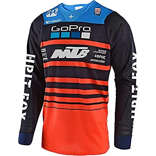 Camiseta Mtb Enduro, Camiseta Mtv Barato,Motocicleta Equipo de bicicleta de montaña Jersey de descenso Mx Camiseta de locomotora de bicicleta Camiseta de bicicleta de montaña de campo traviesa S