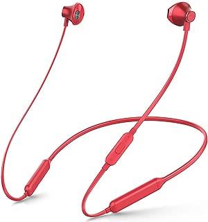GLJJQMY Hanging Neck Bluetooth Headset Binaural Magnetic Sports Waterproof Wireless Earphone Neck Hanging Bluetooth Earphone (Color : RED)
