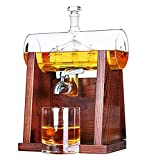 MAORR Juego de decantores de Whisky, Barco de Vidrio de velero Decantador de Vidrio de Alto Nivel de Vidrio de Alto borosilicato Decantador de vinos Set