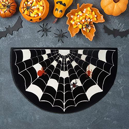 Halloween Spider Door mat Large Halloween Decorations Outdoor & Indoor Entrances, Entryway Rug, Entry Hall, Bathroom, Bedroom, Kitchen, Garages, Patio, Porch, Business Areas, 31.5'x 20'