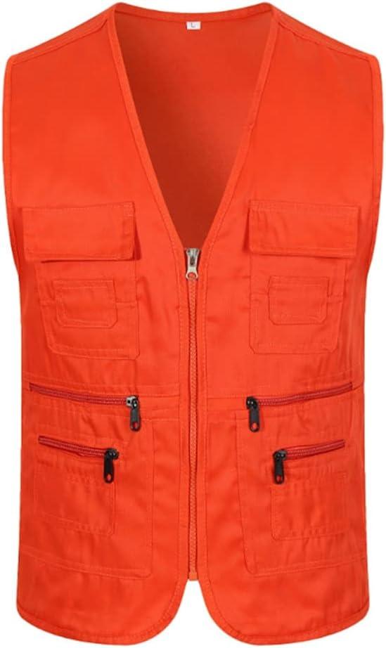 HYFDGV Fishing Vests for mart Philadelphia Mall Men Ja Casual Multi-Pocket Vest