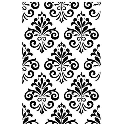 B6 Schablone Barock Ornament-Tapeten-Effekt, wiederverwendbar, A5, A4, A3 und größere Größen, Widerverwendbare PVC-Schablone, A5 size - 148 x 210 mm, 5.8 x 8.3 in