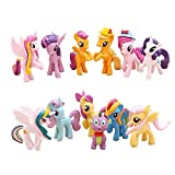 MAKESURE My Little Pony 12 Pony Toys, Mini Figure Collection Playset, Cupcake Topper