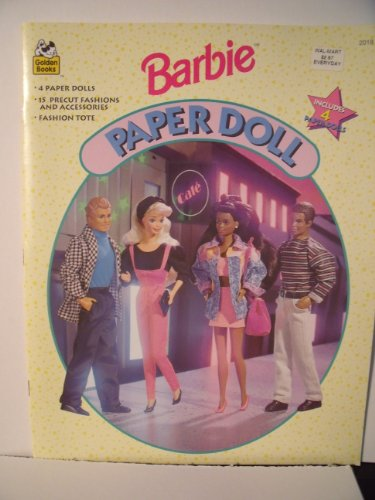 Barbie Paper Doll Book w Ken, Teresa, Steven & Barbie Paper Dolls (1994) by Barbie