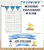 Photocall y Cartel Comunión Niño 100x100cm| Detalles...