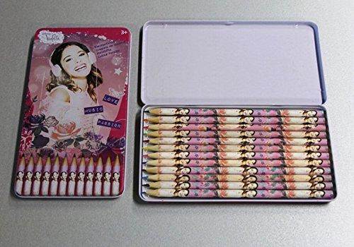 Violetta 12 Buntstifte im Metallkasten
