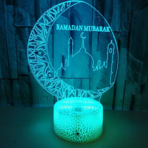 KangYD 3D Night Light Blessing Best Wishes Greetings, LED Illusion Lamp, F - Bluetooth Audio Base(5 Color), Home Decor, Acrylic, Gift for Girl, Desk Lamp, Bar Decor