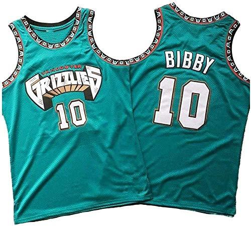 XSJY Jersey NBA Grizzlies Uomo # 10 Bibby Retro Ricami Jersey, Respirabile Freddo di Tessuto, Unisex Pallacanestro Fan Maniche Sport Canotta,M:170~175cm/65~75kg