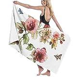 Toallas de baño Flower Shabby Chic Roses Buds Leaves Tulips Floral Baño Familiar Cocina Toallas de Playa para Nadar, Hombres, Mujeres y niños (80 X 130 Limi /51.2 X 31.5 Pulgadas)