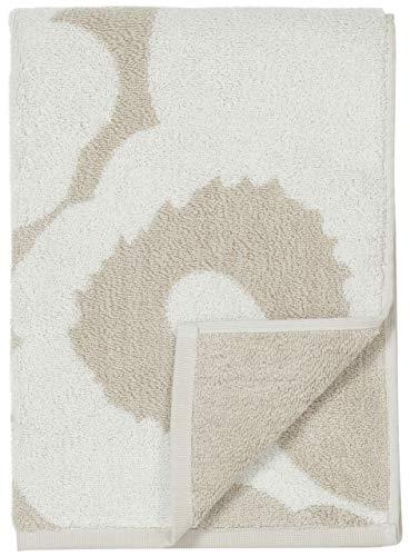 Marimekko - Handtuch, Duschtuch - Unikko - Beige-Weiß - Baumwolle - 50 x 100 cm