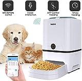Iseebiz Comedero Automático Gatos/Perros Dispensador de Comida WiFi con App Control, Recordatorio por Voz, 6litros
