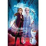 Frozen 2 Poster Guiding Spirit Elsa, Anna & Olaf.