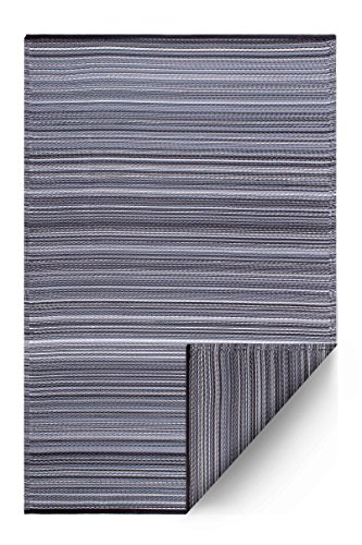 FAB HAB - Cancun - Midnight Teppich/Matte für den Innen- und Außenbereich (120 cm x 180 cm)