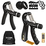 [UPGRADE] Hand Grip Strengthener Workout Kit (6 Pack), Forearm Grip Adjustable Electronic Counting,...