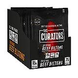 The Curators Rindfleisch Biltong – Original Gewürzte Snacks mit hohem Proteingehalt – 12 x 30g Packungen