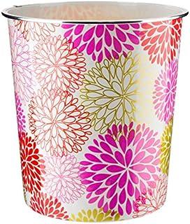 comprar comparacion Home Plus - Papelera de 7,7 L, diseño floral, peso ligero, color rojo, morado y dorado