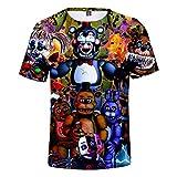 YJXDBABY-Five Nights at Freddy-Camiseta Unisex De Verano Casual con Estampado 3D Camisetas De Manga Corta para Hombres Y Mujeres Disfraz De Cosplay-XL