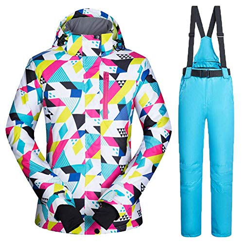 Mignon84Cook Traje de esquí para Mujer, Ski Jacket + Pants, a Prueba de Viento A Prueba...