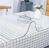 Alfombrilla de escritorio transparente para el hogar, para escritura, escritorio de PVC, antideslizante, resistente al calor e impermeable, 100 x 50 cm