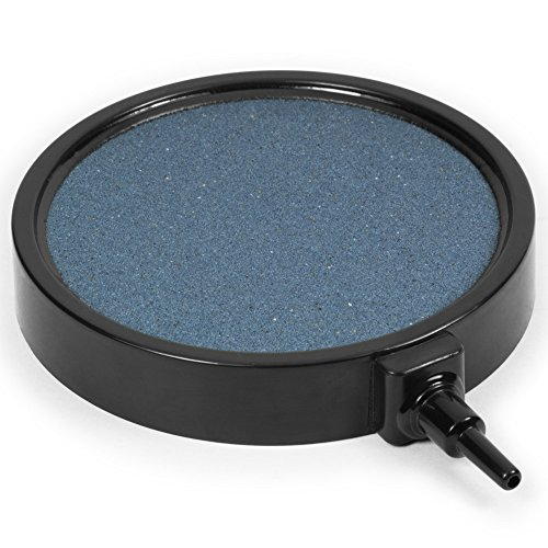 "Aquatix Pro Air Stone Large Premium 4"" Round Bubbler, Air Stones Best for Aquariums, Fish Tanks, Ponds and Hydroponic Systems, Diffuser Produces Fine Bubbles for Oxygen Replacement"