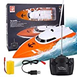 BESWOR 2020 Remote Control Boat, High Speed 2.4GHz Remote Boat 180 Degree Auto Flip Recovery,Electric RC Boat...