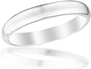 Sterling Silver Baby Ring, 2mm Domed Band in a Size 1 for 3-18 Months, Beautifully Gift Packaged Makes an Ideal Baby Shower, Baptism or Christening, New Baby
