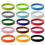 baotongle 15 Stück Welpen ID Halsbänder, Einstellbar Soft Welpen Kitten Halsbänder, für Neugeborene Haustiere15 Farben
