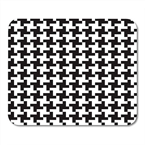 AOHOT Mauspads Check Houndstooth Glen Plaid 50S 60S 70S Mouse pad 9.5