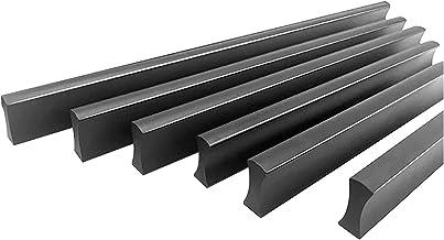 Kastgrepen, Matt Zwart Solid Meubel Handvat Voor Garderobe/Lade/Schoenenkast, 4-Pack Bar Cabinet Aluminium Handvat Handva...