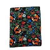 Funda para libro de tamaño mediano, diseño de zorro, ideal como regalo para adolescentes.