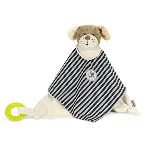 Sterntaler Kuscheltuch Hanno, Alter: Für Babys ab dem 1. Monat, Größe: 33 cm, Farbe: Weiß/Grau/Braun