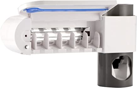Rabinyod Bulan 抗菌UVライト紫外線歯ブラシ消毒機自動歯磨き粉ディスペンサー歯ブラシホルダー口腔衛生クリーナー