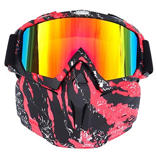 Kikier Full-face skibril met Full-face voorruit met verstelbare elastiek voor ski's en motoren