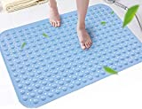 Lifekrafts Experia Vinyl Anti-Slip Soft-Pebble with Suction Cup Shower Bath Mat (Blue, 106x60cm Big Size) bath tub mat non slips May, 2021