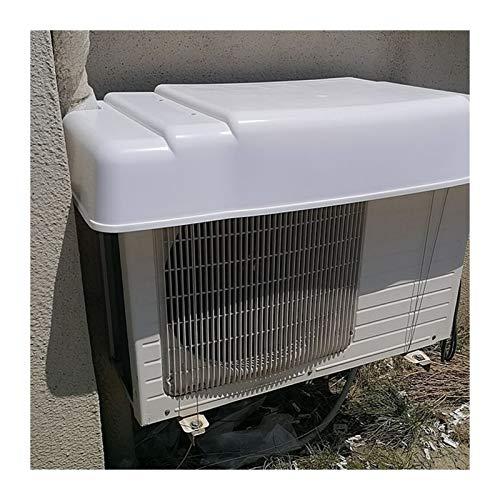 LSXIAO Ventana Aire Acondicionado Cubrir, Lluvia De Plastico Pabellón Toldo Impermeable Antipolvo Anti-Nieve con Cable Fijo para Exterior Equipo De La Unidad (Color : White, Size : 95x43x14.5cm)