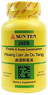 Sun Ten - Coptis & Scute Combination Capsules / Huang Lian Jie Du Tang / 黃連解毒湯