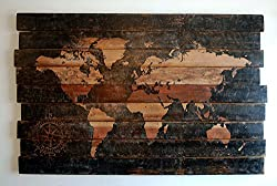 oceanography gifts - nautical world map