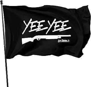FTflag Yee Yee Black Outdoor Flag 3x5 Feet Decorative Flag for Backyard, Home, Party