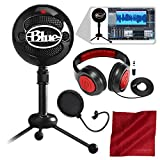 Blue Snowball Studio USB All-In-One Vocal Recording System with Samson...