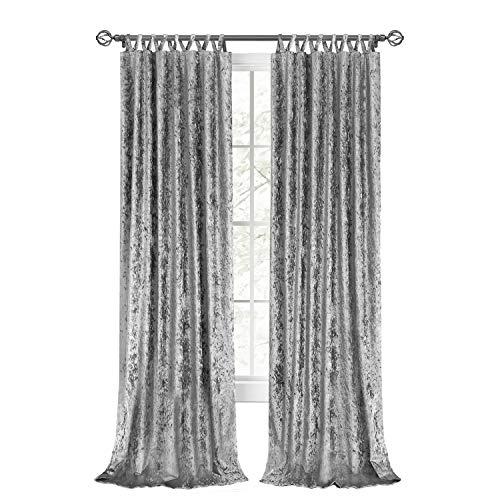 "Achim Home Furnishings HPPN84GY06 , Grey Harper Criss-Cross Window Curtain Panel, 50"" x 84"""