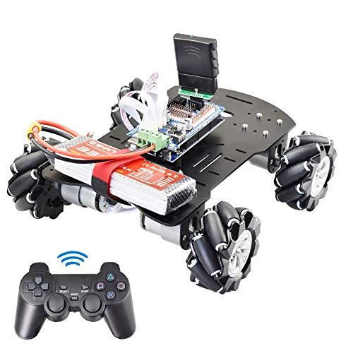 10KG Load Smart 2.4G Handle RC Smart Omni Mecanum Wheel Robot Car for Arduino with 12V Encoder Motor DIY Project STEM Toy