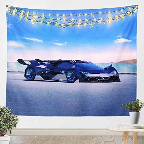 Tapiz de pared para colgar en la pared de coches deportivos extremos para niños y niñas y niños, estilo automovilístico, manta de pared ultra suave, manta de cama extragrande, 152 x 201